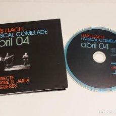 CDs de Música: LLUÍS LLACH I PASCAL COMELADE / ABRIL 04 / EN DIRECTE AL TEATRE JARDÍ DE FIGUERES / IMPECABLE.. Lote 249362865