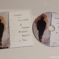 CDs de Música: TERRA I CULTURA / II PREMI MIQUEL MARTÍ I POL / CD- EDR-2010 / 18 TEMAS / IMPECABLE.. Lote 249473150