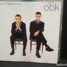 CDs de Música: OBK - DONDE EL CORAZÓN NOS LLEVE - CD. EDICIÓN DE 1996 PEPETO. Lote 249486435