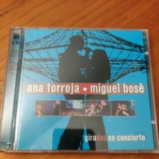 CD de Música: 2CDS GIRADOS EN CONCIERTO. ANA TORROJA - MIGUEL BOSÉ.. Lote 249574850