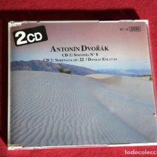 CDs de Música: ANTONÍN DVORAK - SINFONIA Nº 8. SERENATA OP. 22. DANZAS ESLAVAS. 2 CDS. Lote 249581980