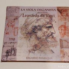 CDs de Música: LA VIOLA ORGANISTA DE LEONARDO DA VINCI / EDUARDO PANIAGUA / DIGIPACK-2011 / 19 TEMAS / IMPECABLE.. Lote 249584900