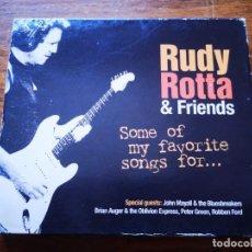 CDs de Música: CD DE RUDY ROTTA & FRIENDS - SOME OF MY FAVORITE SONGS FOR... - COMO NUEVO | ZYX MUSIC |. Lote 250145225