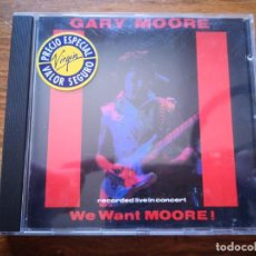 CDs de Música: CD DE GARY MOORE - WE WANT MOORE! - COMO NUEVO | VIRGIN RECORDS |. Lote 250146955