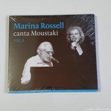 CDs de Música: CD, MARINA ROSSELL, CANTA A MOUSTAKI, VOL. 2, LIBRETO, NUEVO PRECINTADO ORIGINAL SIN ESTRENAR.. Lote 250172415
