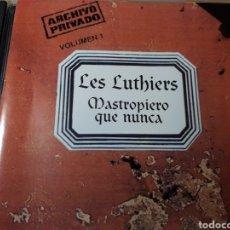 CDs de Música: LES LUTHIERS MASTROPIERO QUE NUNCA VOLUMEN 1. Lote 250179420