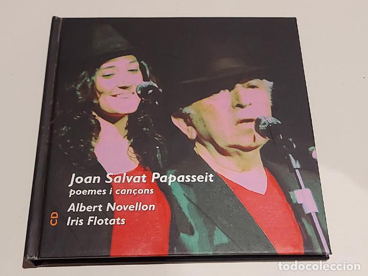 JOAN SALVAT PAPASSEIT / POEMES I CANÇONS / ALBERT NOVELLON-IRIS FLOTATS / LIBRO-CD / IMPECABLE. (Música - CD's Otros Estilos)