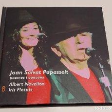 CDs de Música: JOAN SALVAT PAPASSEIT / POEMES I CANÇONS / ALBERT NOVELLON-IRIS FLOTATS / LIBRO-CD / IMPECABLE.. Lote 250230460