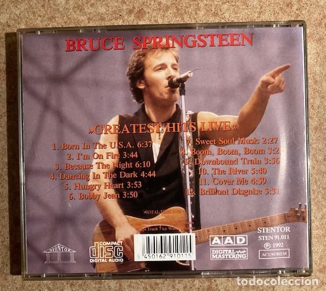 CDs de Música: BRUCE SPRINGSTEEN - LIVE - GREATEST HITS - STENTOR, 1992 - Foto 3 - 250255460