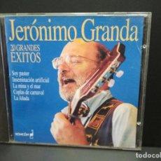 CDs de Música: CD - JERÓNIMO GRANDA - 20 GRANDES ÉXITOS - 1995 PEPETO. Lote 250319035