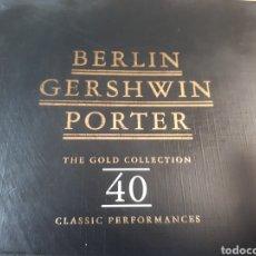 CDs de Música: BERLIN GERSHWIN PORTER 40 GOLD COLLECTION DOBLE CD SINATRA, M.MONROE, FRED ASTER, ELLA FITZGERAL ... Lote 251031950