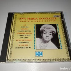 CD di Musica: C10- ANA MARIA GONZALES CANTA A MARIA GREVER CD - DISCO ESTADO BUENO. Lote 251118475