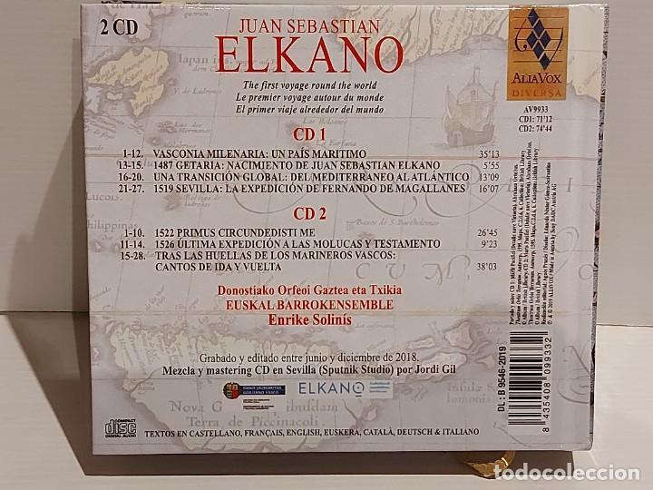 CDs de Música: JUAN SEBASTIAN ELKANO / CANCIONES Y DANZAS DE LA NAVEGACIÓN VASCA / LIBRO + DOBLE CD / DE LUJO. - Foto 4 - 251241820