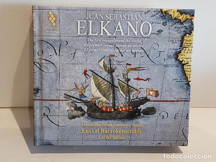 JUAN SEBASTIAN ELKANO / CANCIONES Y DANZAS DE LA NAVEGACIÓN VASCA / LIBRO + DOBLE CD / DE LUJO. (Música - CD's World Music)