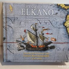 CDs de Música: JUAN SEBASTIAN ELKANO / CANCIONES Y DANZAS DE LA NAVEGACIÓN VASCA / LIBRO + DOBLE CD / DE LUJO.. Lote 251241820
