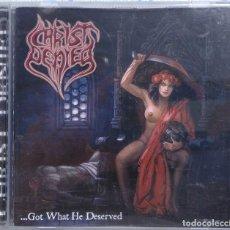 CDs de Música: CHRIST DENIED – …GOT WHAT HE DESERVED (COYOTE RECORDS, 2006) /// AVULSED FERMENTO MORTICIAN GORGASM. Lote 251346165