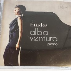 CDs de Música: ALBA VENTURA / ÉTUDES-PIANO / CD - AGLAE MUSICA-2016 7 20 TEMAS / IMPECABLE.. Lote 251355430