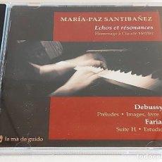 CDs de Música: MARÍA-PAZ SANTIBAÑEZ / ECHOS ET RÉSONANCES / CD - LA MÀ DE GUIDO / IMPECABLE.. Lote 251376050