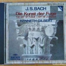 CD de Música: KENNETH GILBERT J.S.BACH DIE KUNST DER FUGE THE ART OF FUGUE. Lote 251408555