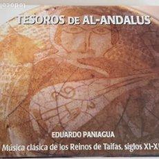 CDs de Música: TESOROS DE AL-ANDALUS / EDUARDO PANIAGUA / DIGIPACK-CD - PNEUMA / 14 TEMAS / IMPECABLE.. Lote 251418850