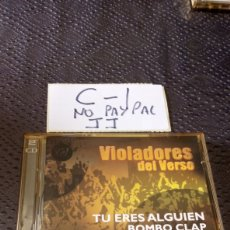 CDs de Música: CD HIP HOP DOBLE VIOLADORES DEL VERSO TU ERES ALGUIEN BOMBO CLAP CAJA ALGO AMARILLENTA CD NO PROBADO. Lote 251498110