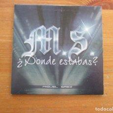 CDs de Música: M.S. MIGUEL SÁEZ ¿DÓNDE ESTABAS? CD SINGLE FUNDA CARTÓN MUSIC GROUP REGGAETOP FUNKY. Lote 251559690