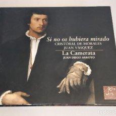 CDs de Música: CRISTÓBAL DE MORALES-JUAN VÁSQUEZ / SI NO OS HUBIERA MIRADO / DIGIPACK-CD - PNEUMA / 25 TEMAS / LUJO. Lote 251629660