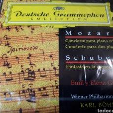 CDs de Música: MOZART CONCIERTO PARA PIANO 27 CONCIERTO PARA DOS PIANOS SCHUBERT FANTASIA EN FA MENOR D940. Lote 251683740