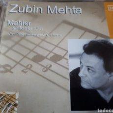CDs de Música: GUSTAV MAHLER SINFONIA N.5 ZUBIN MEHTA. Lote 251695410