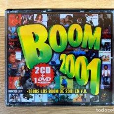 CDs de Música: BOOM 2001 2 CDS + DVD - 40 EXITOS - DEPECHE MODE - GORILLAZ - DAFT PUNK - KYLIE MINOGUE - CAMELA. Lote 251861170