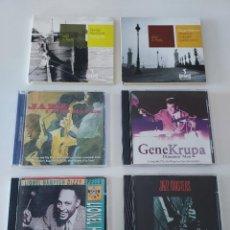 CDs de Música: LOTE 6 CD JAZZ DJANGO REINHARDT, OSCAR PETERSON, GENE KRUPA, STAN GETZ, LIONEL HAMPTON. Lote 252107075