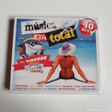 CDs de Música: PACK 2 CD'S DE MÚSICA TOTAL, 40 HITS, EL TIBURÓN, NUEVO PRECINTADO ORIGINAL SIN ESTRENAR.. Lote 252304190