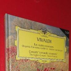 CDs de Música: VIVALDI. LAS CUATRO ESTACIONES Y CONCERTI CON MOLTI ISTROMENTI. LIBRETO + 2 CDS. GRAN SELECCIÓN. Lote 252352940