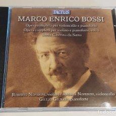 CDs de Música: MARCO ENRICO BOSSI / OPERA COMPLETA PER VIOLONCELLO E PIANOFORTE / IMPECABLE.. Lote 252366570