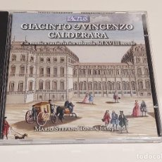 CDs de Música: GIACINTO & VINCENZO CALDERARA / E LA MUSICA TASTIERISTICA DEL XVIII SECOLO / CD-TACTUS / IMPECABLE.. Lote 252371970