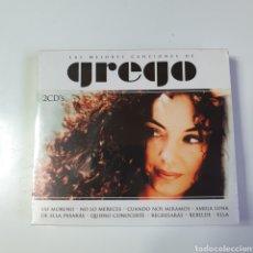 CDs de Música: PACK DE 2 CD'S, DE LAS MEJORES CANCIONES DE GREGO, NUEVO PRECINTADO ORIGINAL SIN ESTRENAR.. Lote 252518730