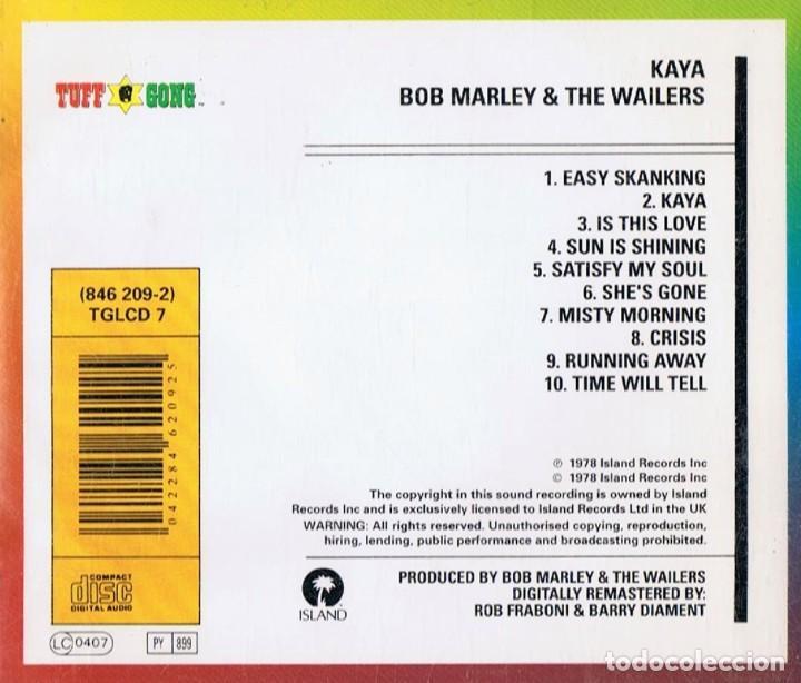 CDs de Música: BOB MARLEY & THE WAILERS ¨KAYA¨ (CD) - Foto 2 - 252618140