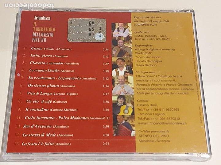 CDs de Música: ARIONDASSA / IL TABERNACOLO DELLONESTO PECCATO / CD-SMC-2001 / 13 TEMAS / IMPECABLE - Foto 3 - 252629475