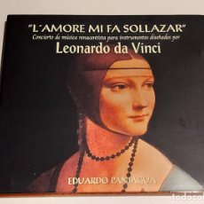 CDs de Música: EDUARDO PANIAGUA / L'AMORE MI FA SOLLAZAR / CONCIERTO DE MÚSICA RENACENTISTA / IMPECABLE.. Lote 252738650