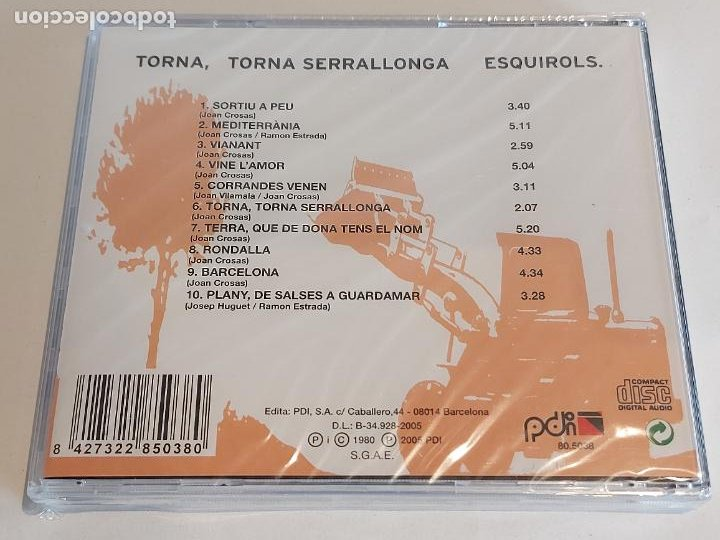 CDs de Música: ESQUIROLS / TORNA, TORNA SERRALLONA / CD - PDI-2005 / 10 TEMAS / PRECINTADO. - Foto 2 - 252768895
