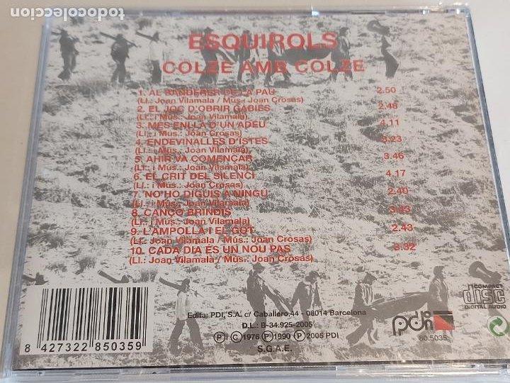 CDs de Música: ESQUIROLS / COLZE AMB COLZE / CD - PDI-2005 / 10 TEMAS / PRECINTADO. - Foto 2 - 252769070