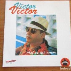 CDs de Música: VÍCTOR VÍCTOR ASÍ ES MI AMOR CD SINGLE BAT DISCOS 1993 BACHATA. Lote 252807980