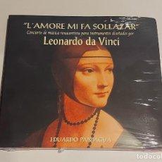 CDs de Música: EDUARDO PANIAGUA / L'AMORE MI FA SOLLAZAR / CONCIERTO DE MÚSICA RENACENTISTA / PRECINTADO. Lote 252993440
