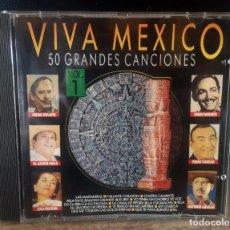 CDs de Música: VIVA MÉXICO VOL. 1. VARIOS ARTISTAS. EDICIÓN DIVUCSA DE 1991.. Lote 253021780