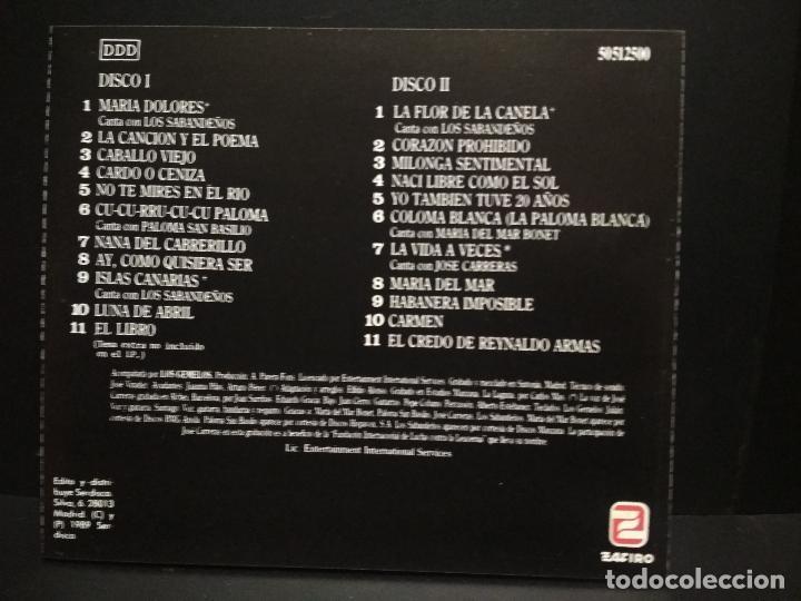 CDs de Música: Maria Dolores Pradera con Los Gemelos... - 2 x CD - 1989 CANTA CON .....VARIOS PEPETO - Foto 2 - 253035980
