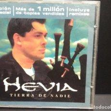 CDs de Música: HEVIA - TIERRA DE NADIE - CD 1999 - EDICIÓN ESPECIAL INCLUYE REMIXES ASTURIAS PEPETO. Lote 253036685