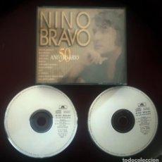 CDs de Música: NINO BRAVO 50 ANIVERSARIO DOBLE CD AÑO 1995 DUOS CON LOLITA JAVIER ANDREU EL CONSORCIO SERGIO DALMA. Lote 253142730