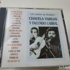 CDs de Música: CHAVELA VARGAS Y FACUNDO CABRAL - UN CANTO AL PUEBLO - CD - C 5. Lote 253174670