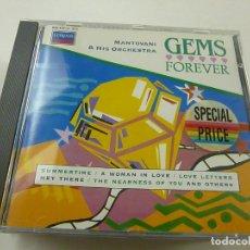 CD de Música: MANTOVANI & HISORCHESTRA - GEMS FOREVER - CD - C 5. Lote 253216045