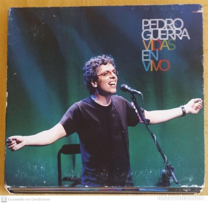 PEDRO GUERRA (VIDAS - EN VIVO) CD + DVD 2008 - MIGUEL RIOS, BEBE, ISMAEL SERRANO, LUIS PASTOR.. (Música - CD's Otros Estilos)